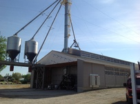 Farmers Mill Fertilizer Set up - Protivin IA